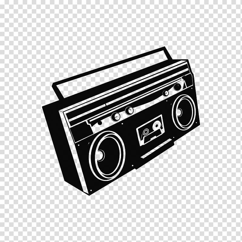 Tape recorder Boombox Radio, radio transparent background.