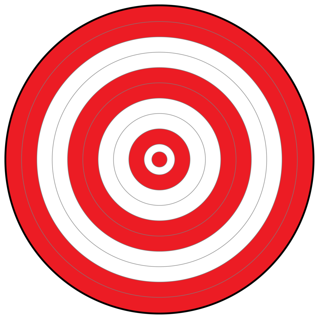 All Red Bullseye Target.