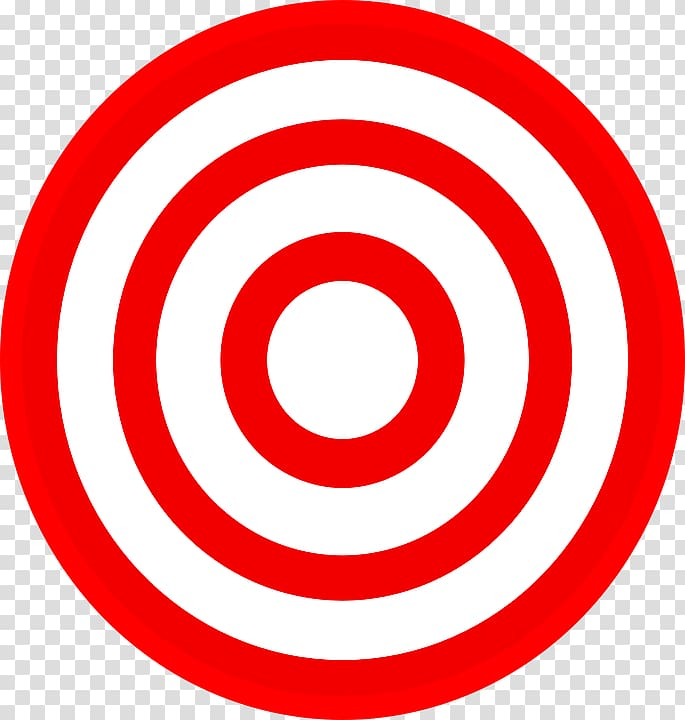 Round red and white dartboard, Target Corporation Bullseye.