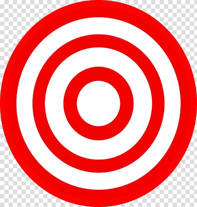 Round red and white dartboard, Target Corporation Bullseye.