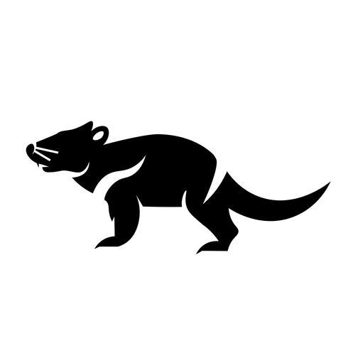 Tasmanian Devil Icon Vector.
