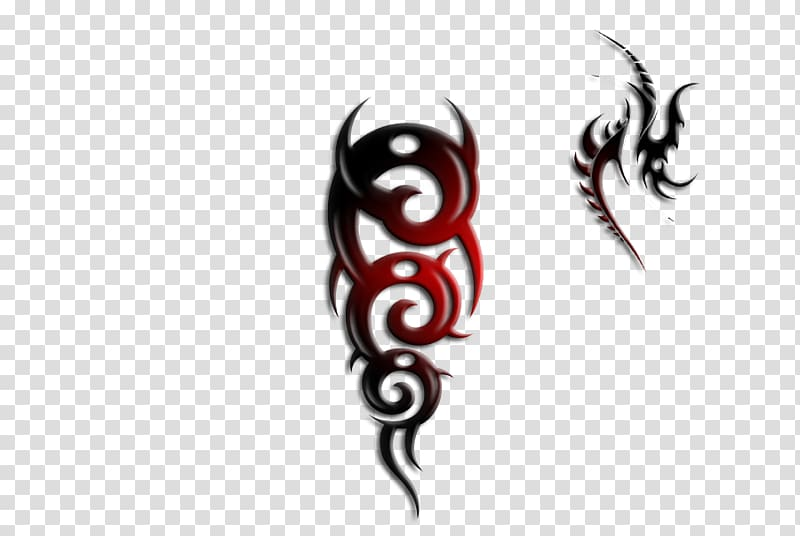Tattoo Satanism Demon Devil, ink effect transparent.
