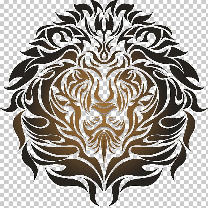 Lionhead rabbit Tattoo Photo HD Sticker, lion PNG clipart.