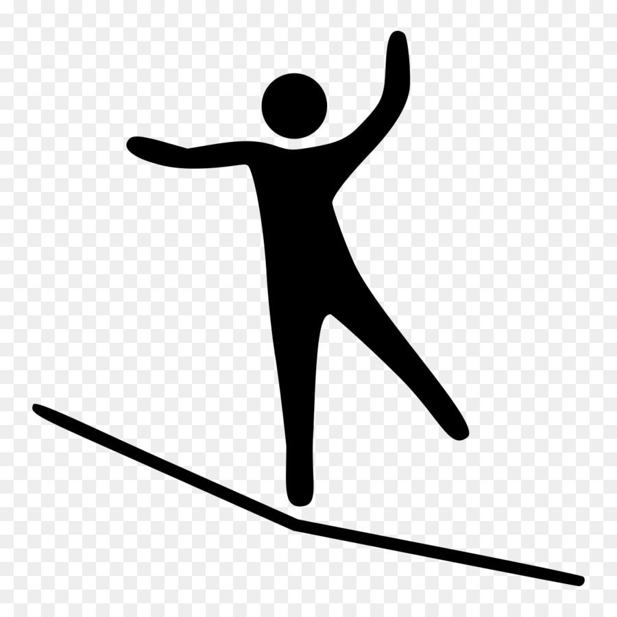 Sense of balance clipart Tightrope walking Slacklining Clip.