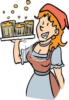 Attractive Maid Clipart German Tavern Royalty Free Clip Art.
