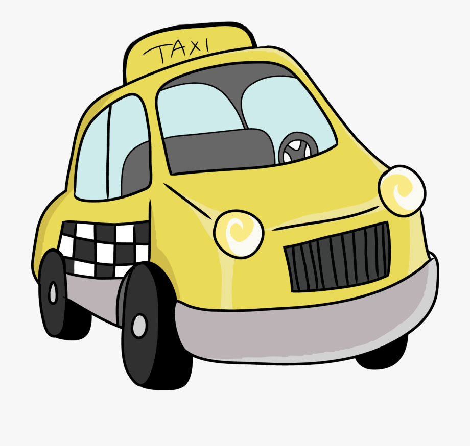 Cartoon Taxi Car Png Clipart.