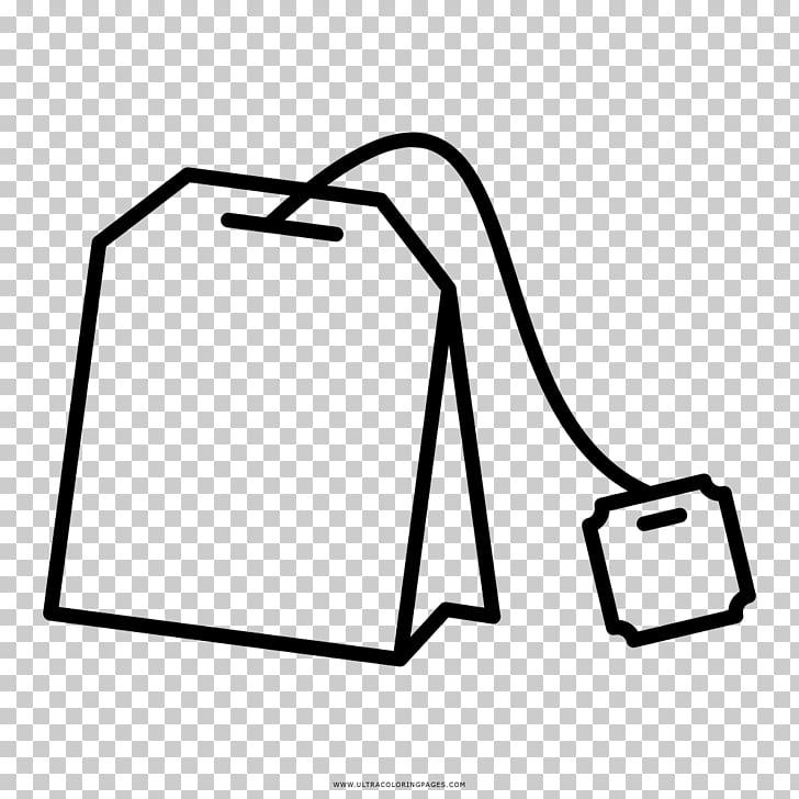 Tea bag Green tea Drawing Coloring book, tea PNG clipart.