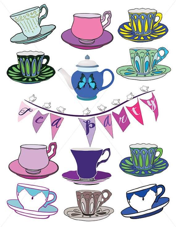 Teacup Images, Tea Party Graphics, Clipart Cups, Cup and Saucer.