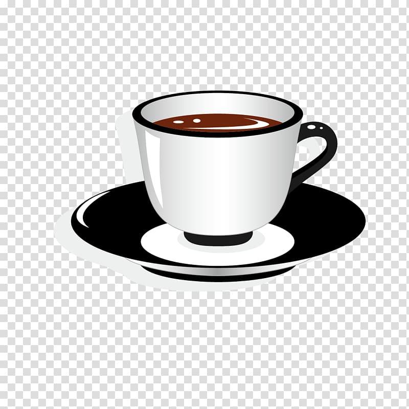 Coffee Teacup Saucer , Tea cup transparent background PNG clipart.