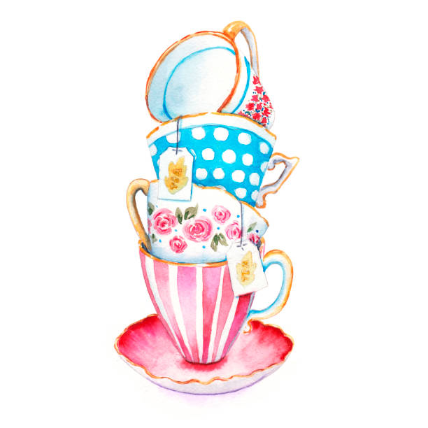 Best Tea Cup Illustrations, Royalty.