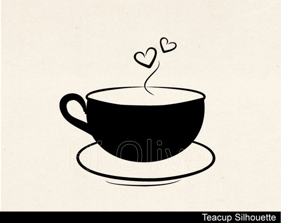 Teacup vectorSilhouette teacup svg cutting filetea party.