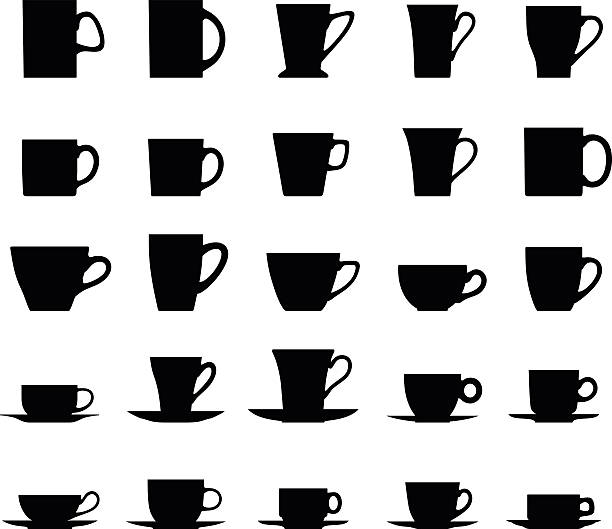 clipart tea cup silhouette clipground