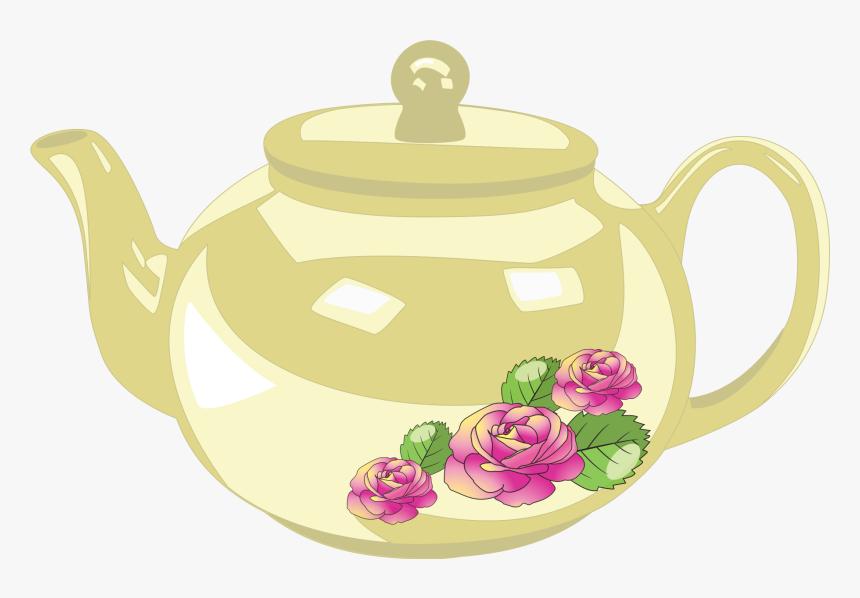 Flower,cup,kettle.