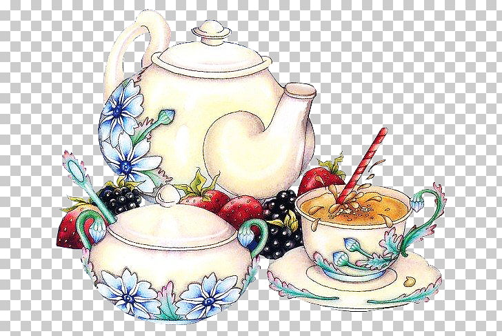 Tea set Service de table , tea PNG clipart.