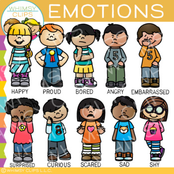 Emotions Clip Art by Whimsy Clips.