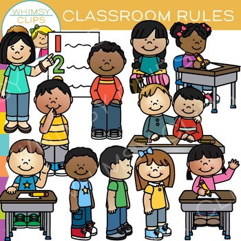 Classroom Rules Clip Art by Whimsy Clips.