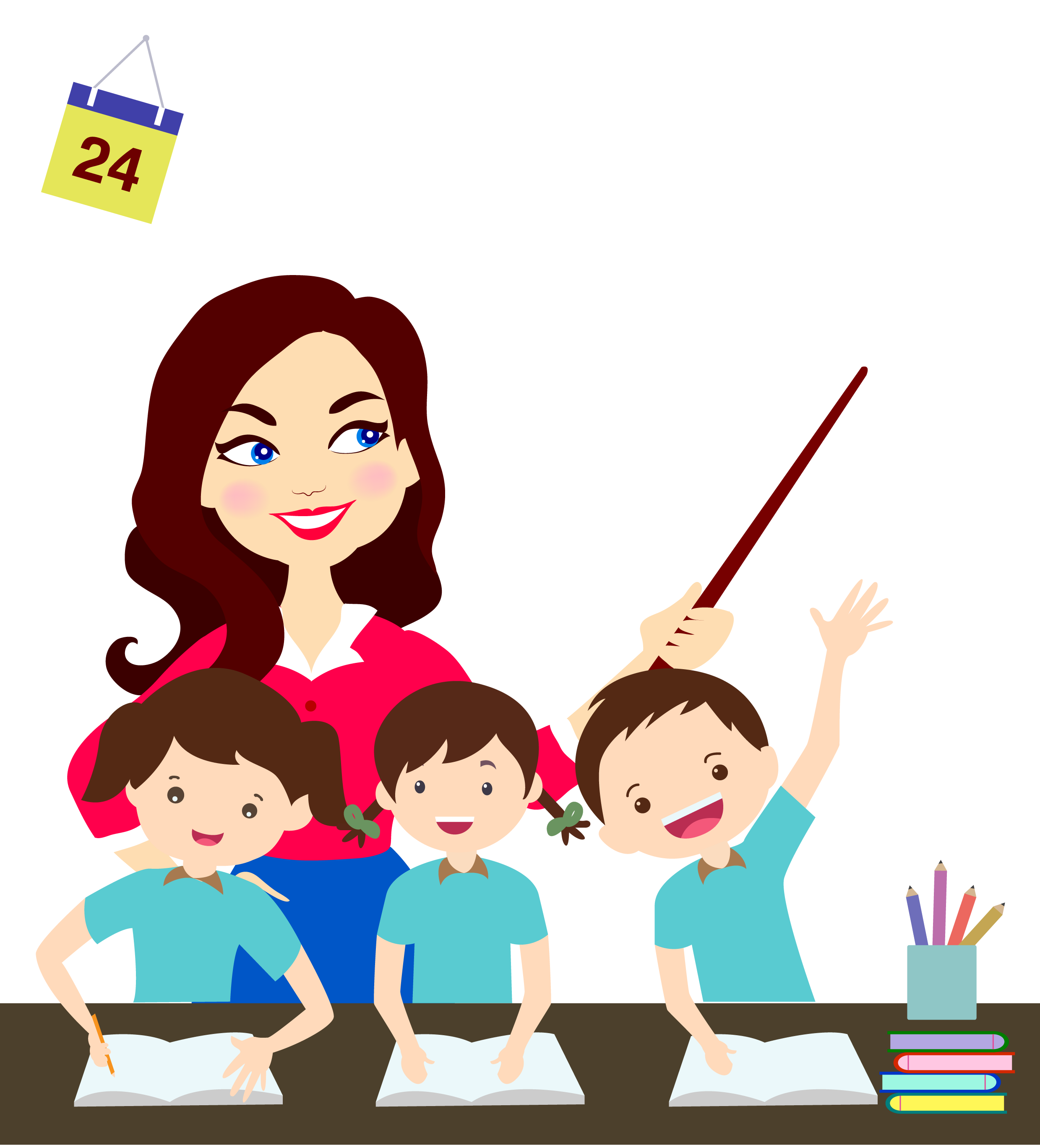 Teachers download free clipart with a transparent background.