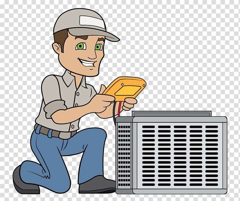 Technician HVAC Air conditioning Electricity , Hvac Unit transparent.