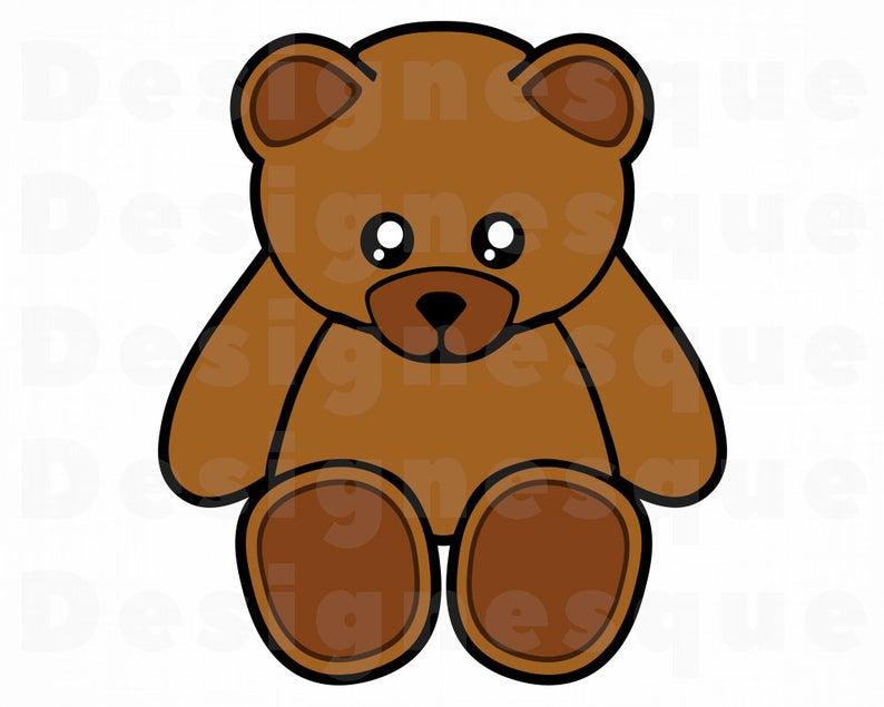 Teddy Bear SVG, Teddy Bear Clipart, Teddy Bear Files for Cricut, Teddy Bear  Cut Files For Silhouette, Teddy Bear Dxf, Png, Eps, Vector.