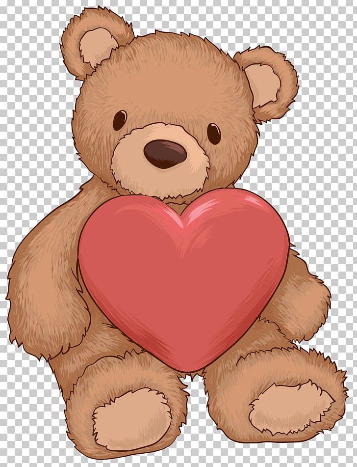 Teddy Bear Heart PNG, Clipart, Bear, Brown Bear, Carnivoran, Clipart.