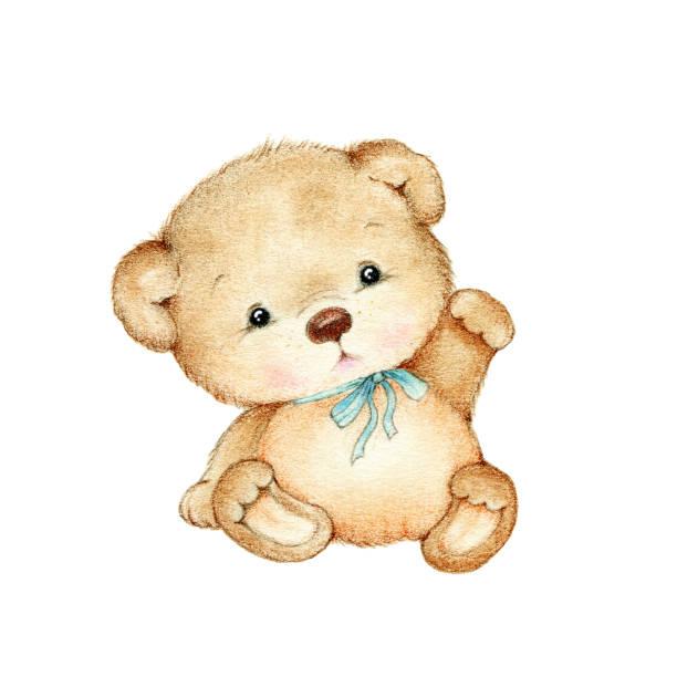 Best Blue Teddy Bear Illustrations, Royalty.
