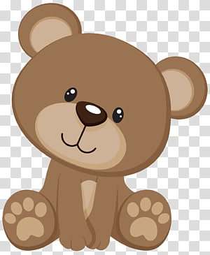 Brown bear , Teddy bear Baby shower Child Party, bear transparent.