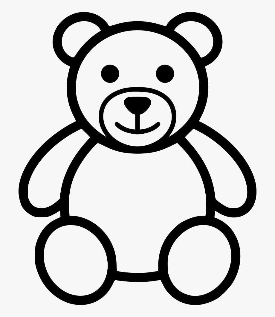 Teddy Bear Outline Clip Art.