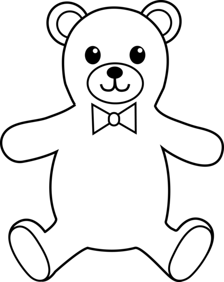 Free Teddy Bear Outline, Download Free Clip Art, Free Clip.