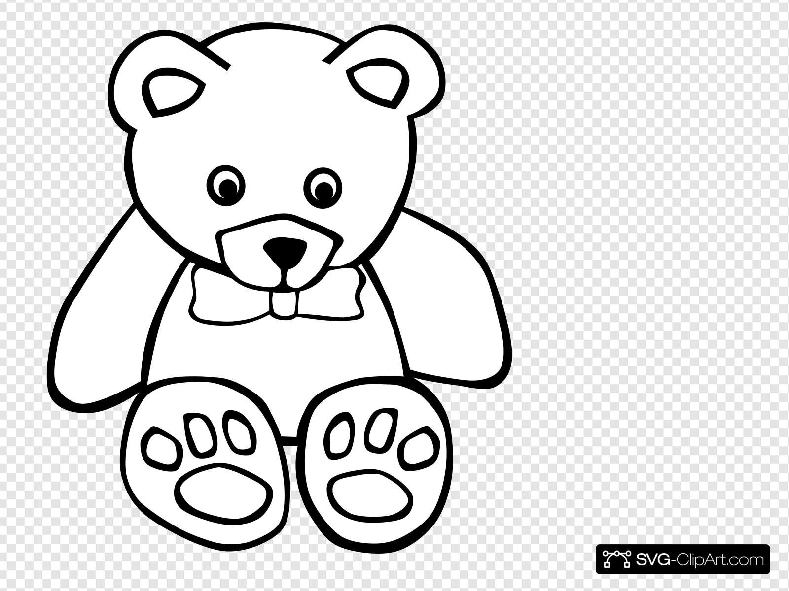 Teddy Bear Outline Clip art, Icon and SVG.