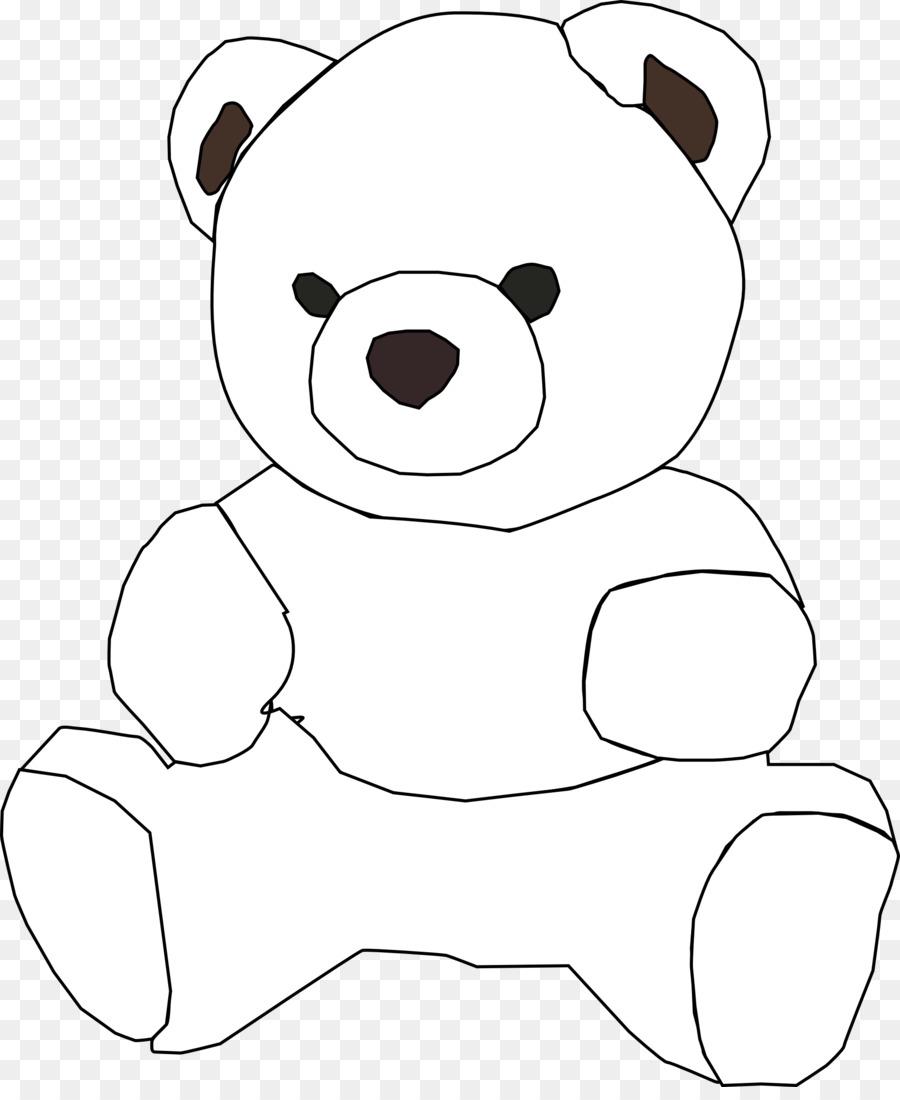 Teddy bear outline clipart 4 » Clipart Station.