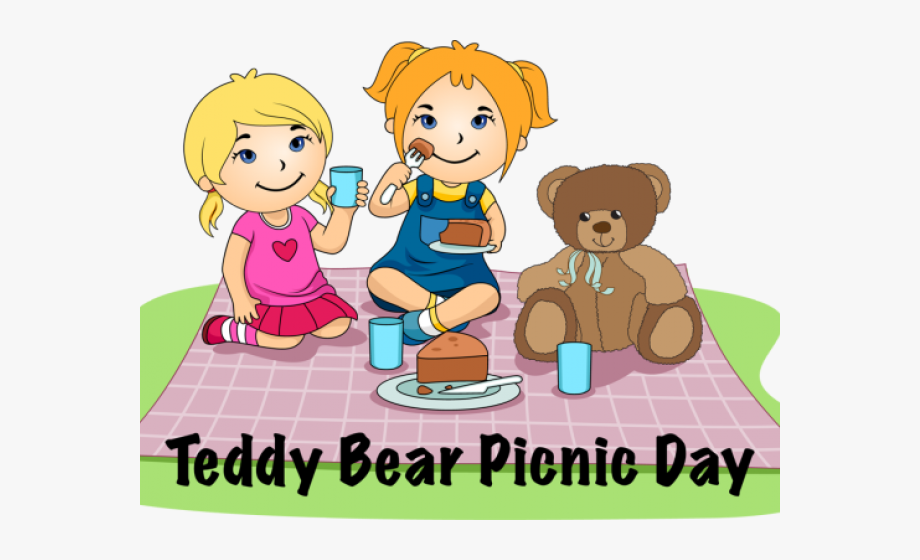Picnic With Teddy Bear Clipart , Transparent Cartoon, Free.