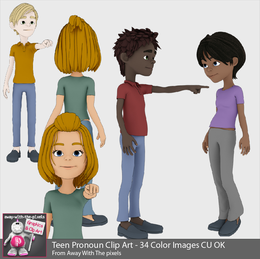 Teen Pronoun Clipart.