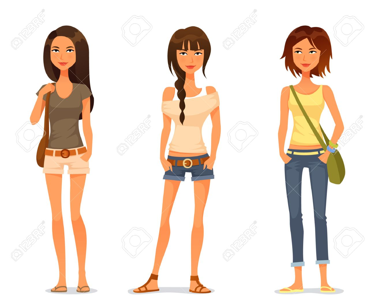 Teenage girl clipart 6 » Clipart Station.