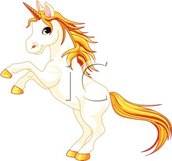 Clipart teen with unicorn.