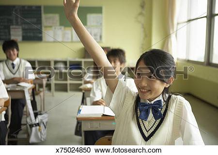 Stock Photography of Teenage female students (12.