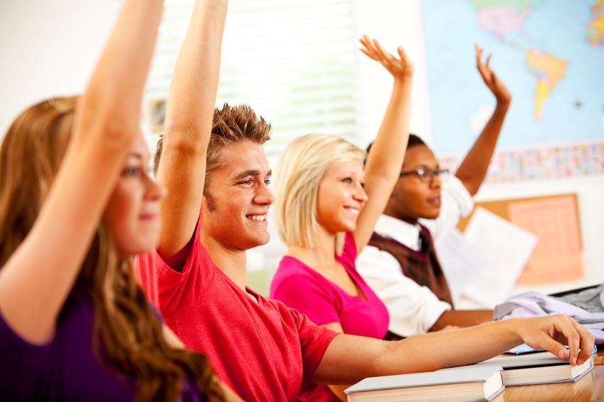 Raising hand in class