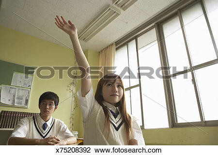 Stock Photo of Teenage female student (17.