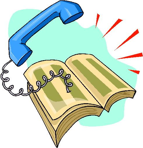 Free Telephone Directory Clip Art.