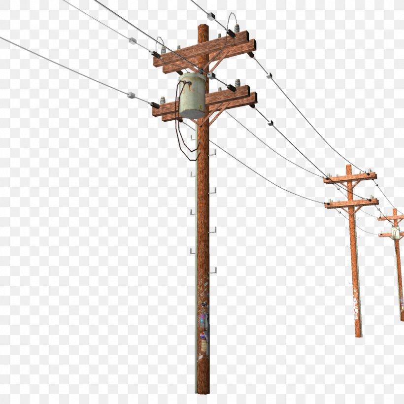 Utility Pole Overhead Power Line Electricity Electric.