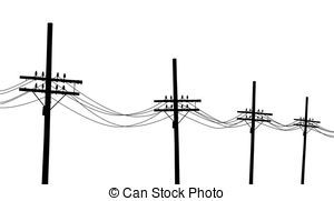 Telephone pole clipart #7.