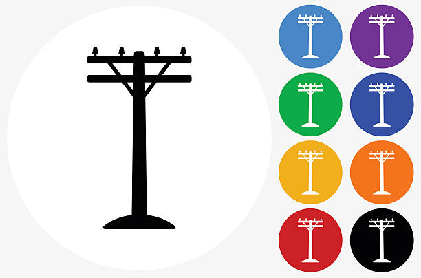 Electric Pole Clip Art, Vector Images & Illustrations.