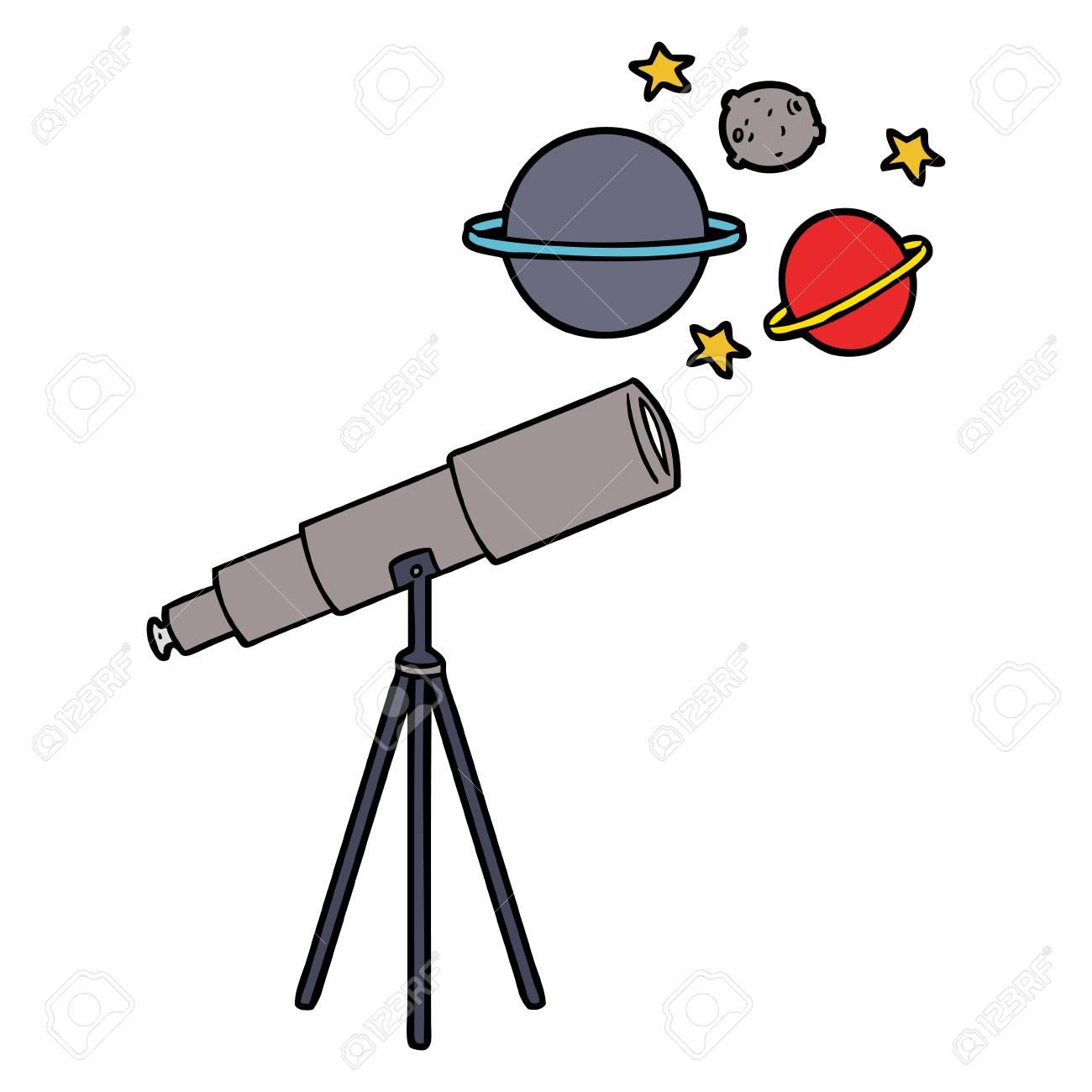 Cartoon telescope.