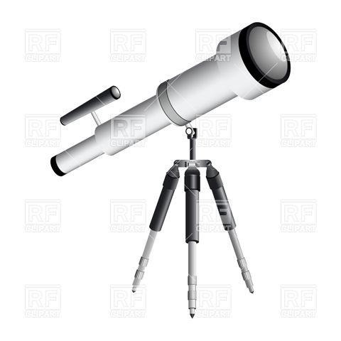 Telescope on tripod Stock Vector Image.