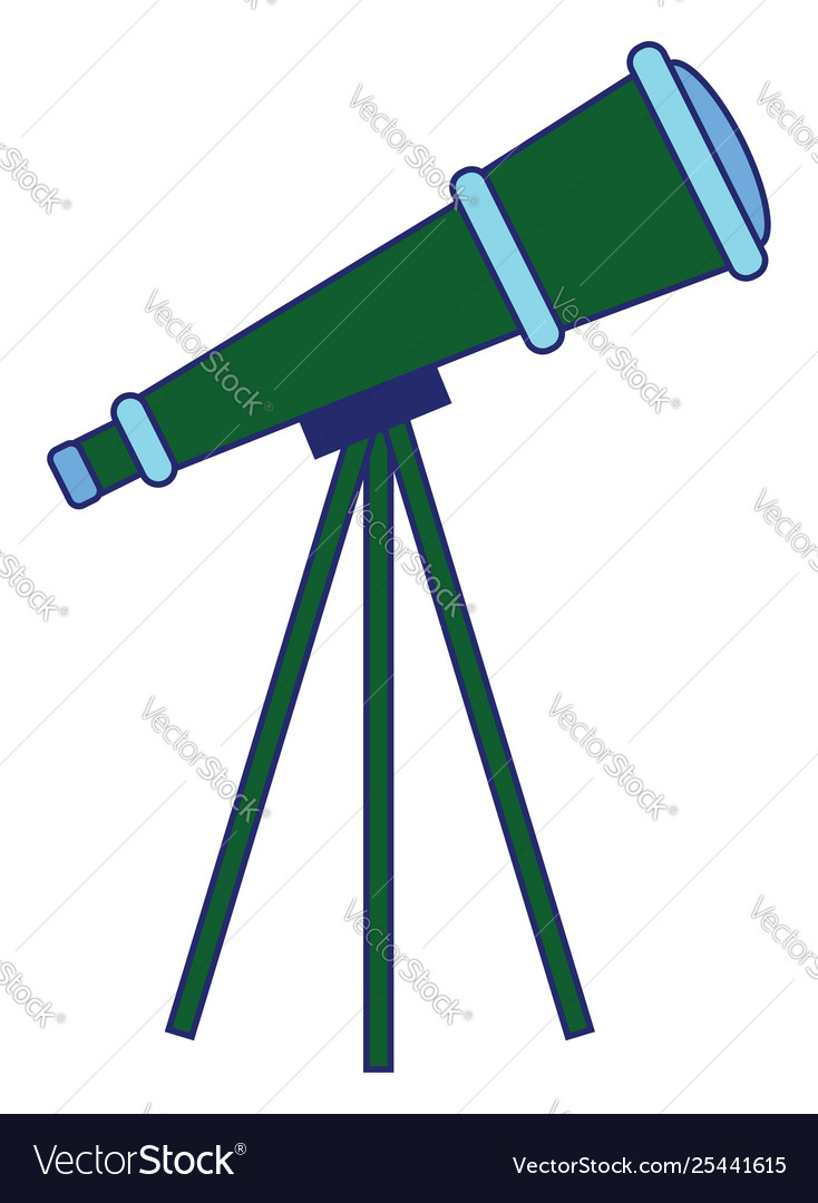 Clipart telescope isolated on white.