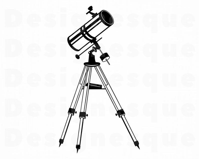 Telescope #3 SVG, Telescope Svg, Telescope Clipart, Telescope Files for  Cricut, Telescope Cut Files For Silhouette, Dxf, Png, Eps, Vector.
