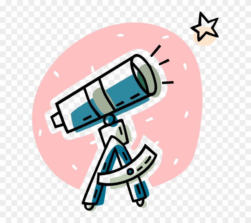 Vector Illustration Of Optical Telescope Observes The.