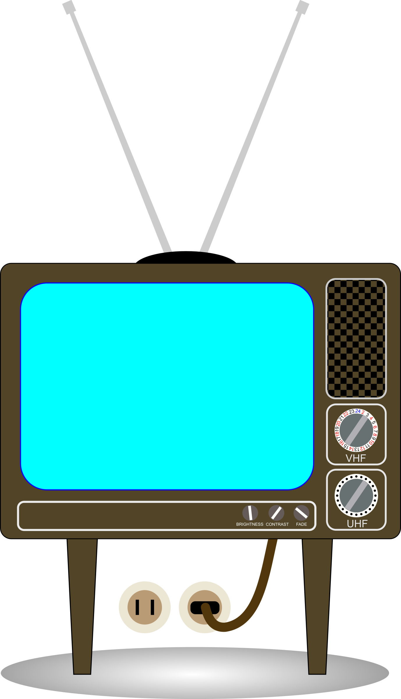 Png Library Stock Television Set Clipart.