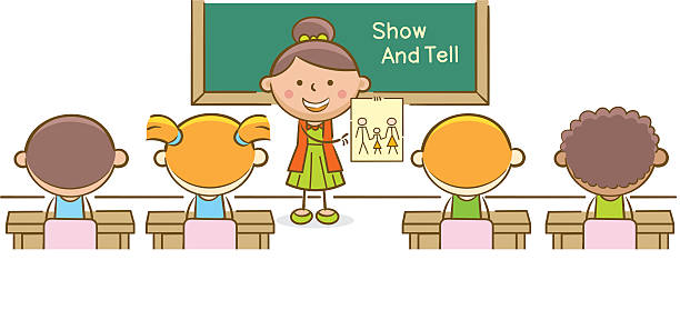 Kids Show And Tell Illustrations, Royalty.