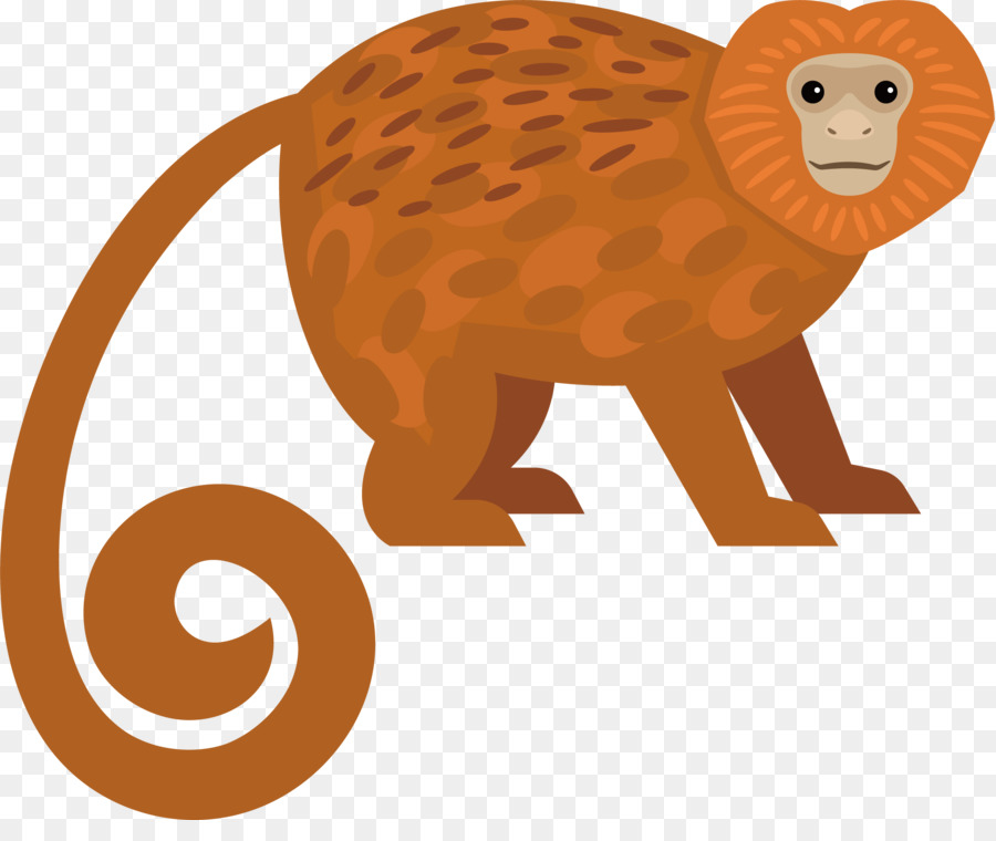 Golden Lion Tamarin Clipart.