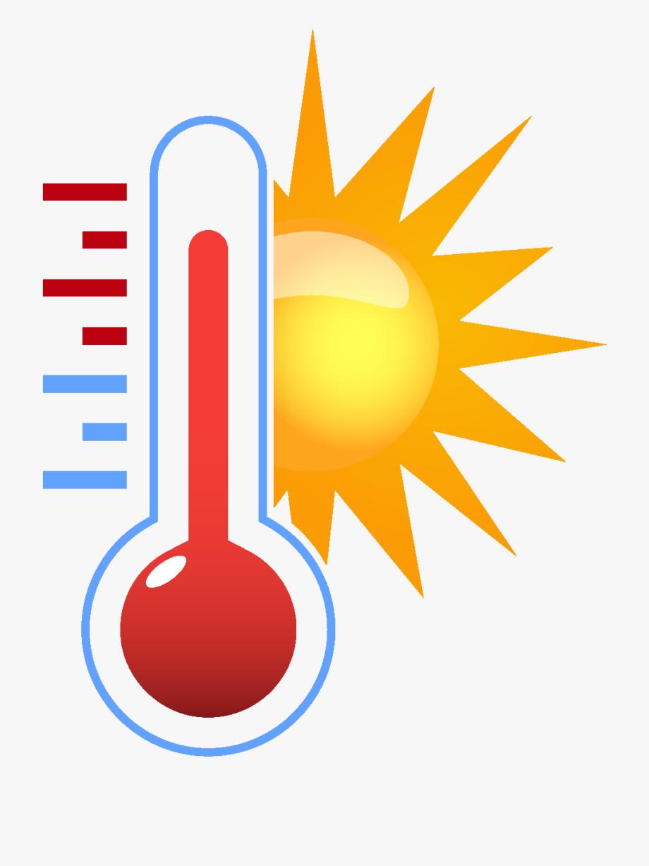Cartoon Sun Temperature Element.